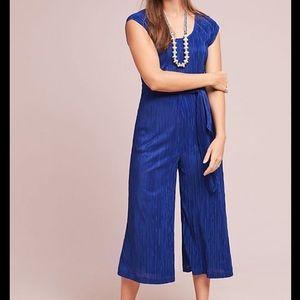 Anthropologie Maeve Cobalt Blue Sonata Jumpsuit